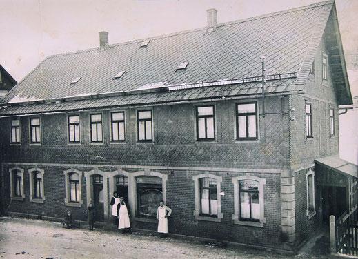 Metzgerei in Tettau um 1914