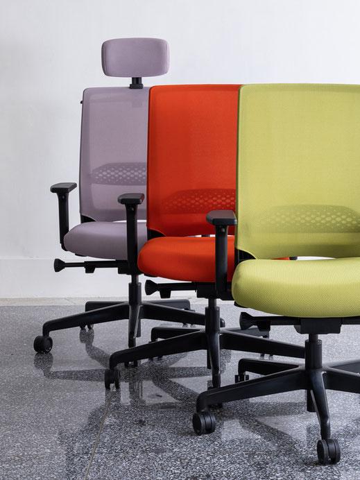 Comfordy, Drehstuhl, Netz, Slimpolster, swivel chair, mesh, slim upholstery, Ru´dy, Design, Taiwan