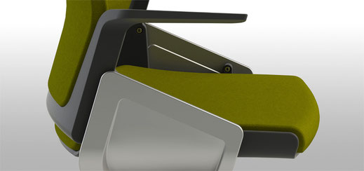 Designstudie für Sedus Stoll AG, Simple Office Chair, Detail Rendering