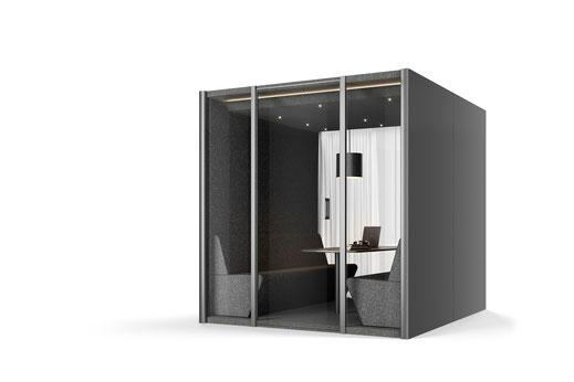 Bosse Design, Höxter, Collaboration Cube 2.0, Raum in Raum System, Meeting, Besprechung, Büro, Design