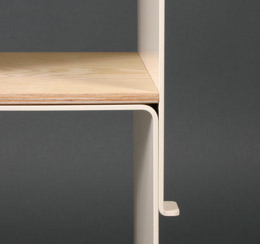 Designkonzept, Produktidee, Konzept, stapelbarer Hocker, Blech, Holz