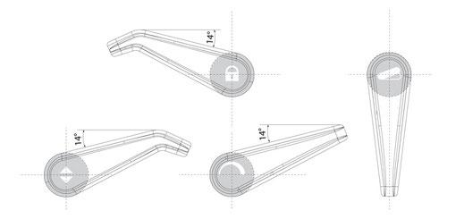Sedus Bedienelemente und Piktogramme für Hebel
