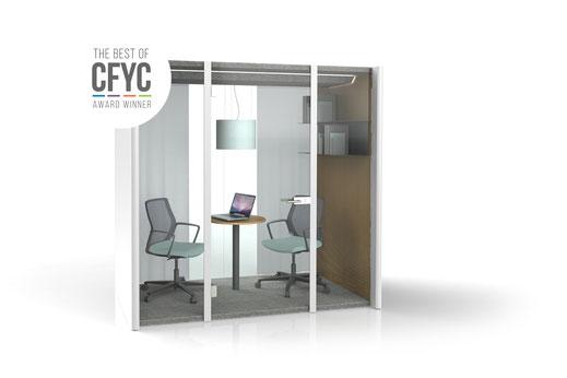 Bosse Design, Höxter, Dialogue Cube 2.0, Raum in Raum System, Meeting, Besprechung, Büro, Design, CFYC Award Winner