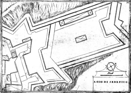 sebenico fortress tenaille venetian fortification fortezze venete