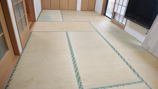 施工前のお部屋 畳が9帖の和室です。