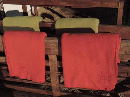 Terrassendecken aus Fleece