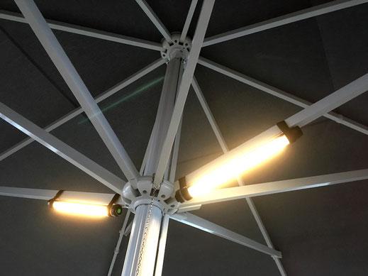 Kabellose LED Beleuchtung mit Akku für sonnenschirm