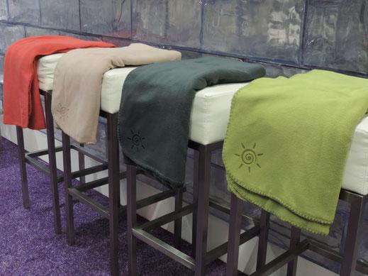 Warme Decken für die Terrasse