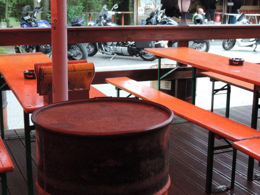 Bikertreff Terrasse