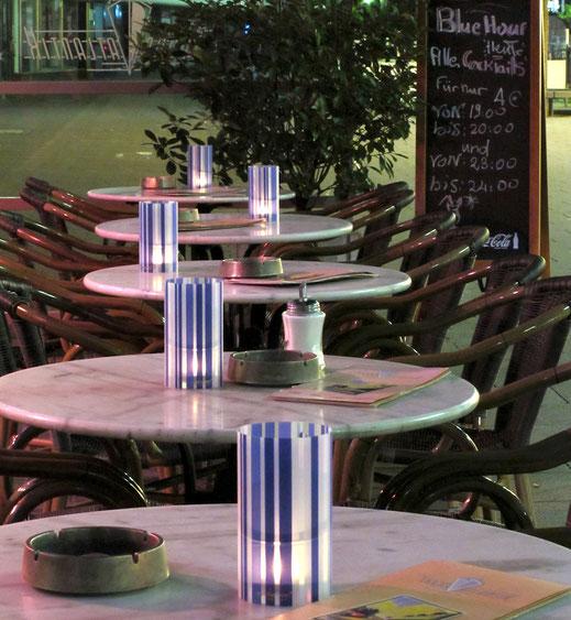 Tischbeleuchtung Aussengastronomie