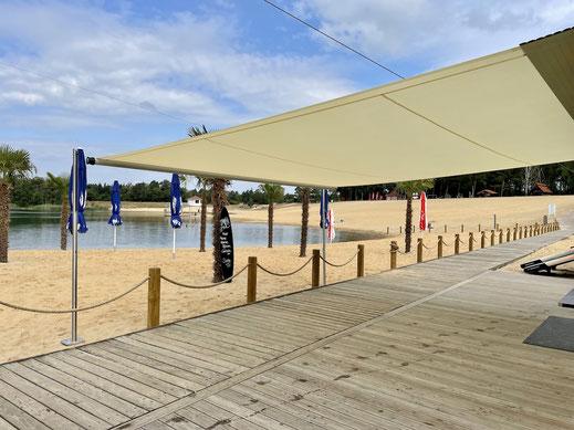 Sonnensegel auf Gastronomie Terrasse