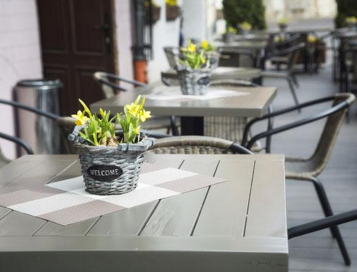 Sitzmöbel Terrasse Gastronomie