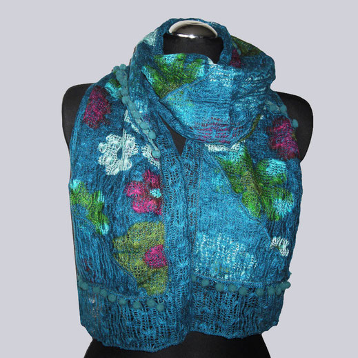 Wunderschöner Schal in tollen Farben