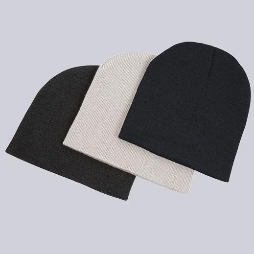 Modische Unisex Mützen, schwarz.