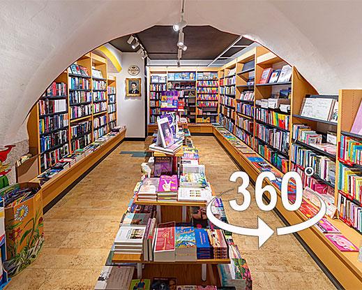 Besuchen Sie Buch Papier Verlag Armütter virtuell in 360°