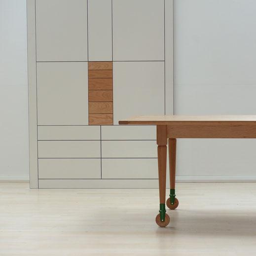 Shaker worktable / Esstisch aus Kirschbaum