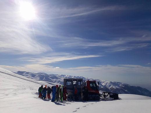 Catskiing, Snowcat, Lesser Caucasus, Sarkornia