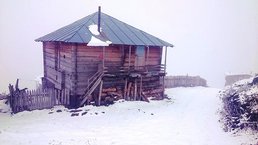 Traditionelles, nur im Sommer bewohntes Alp-Haus in Adjara.