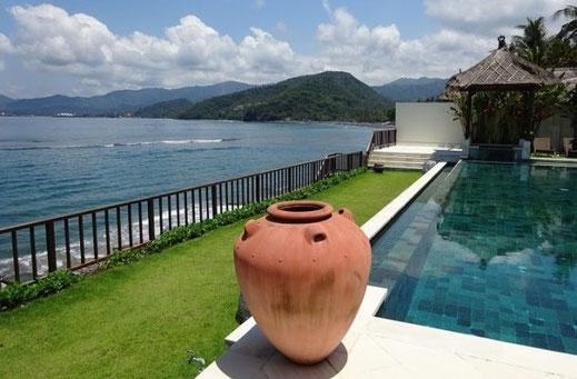 Manggis beachfront villa for sale