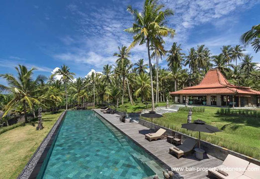 West Bali beachfront villa for sale.