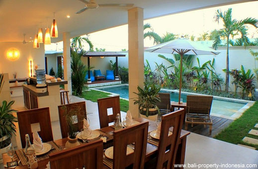 3 bedroom villa on offer for sale located in Kerobokan, Bali.