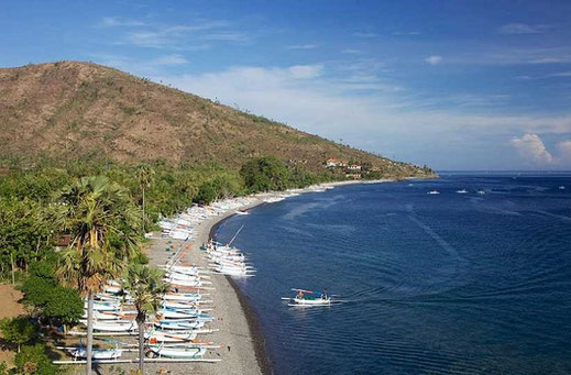 Beachfront land for sale located in Amed, East Bali.