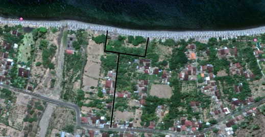 Beachfront property for sale in Bali.