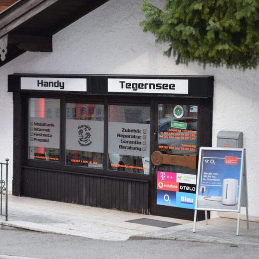 Handy Tegernsee in der Rosenstraße von Tegernsee