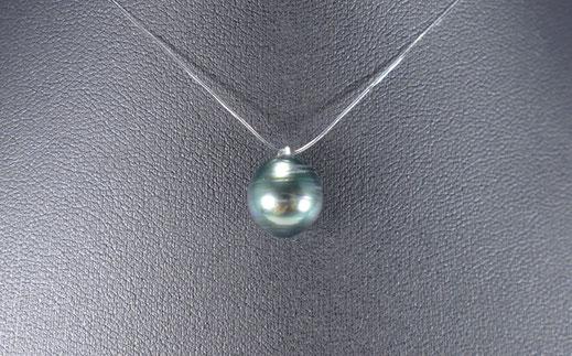 Collier élastique simple avec perle de culture de Tahiti bijoux