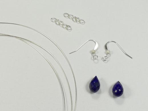 matériel boucles d'oreilles lapis lazuli d'afghanistan en goutte