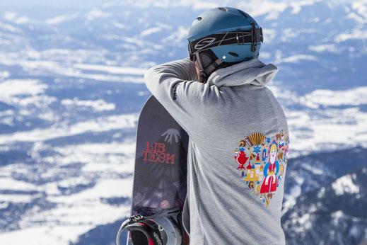 толстовки худи и балахоны для катания на сноуборде