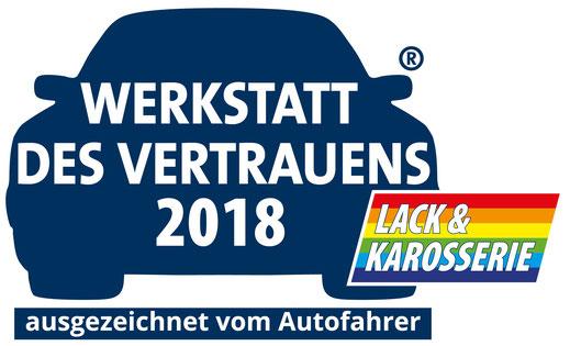 Werkstatt des Vertrauens 2018 -  Autolackiererei Streng GmbH