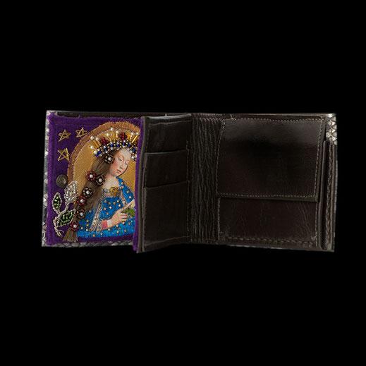 Schlangenleder-Portemonnaie Taschenaltar limitiert handgemacht Geschenkidee