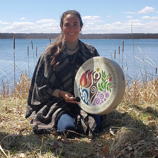 Crystal Cavalier with her Earth Goddess Drum