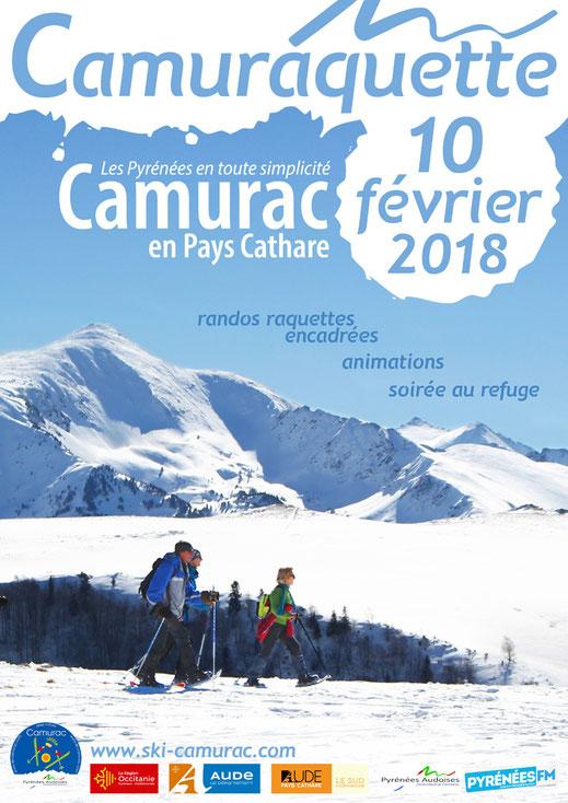 Affiche Camuraquette 2018 - Station de ski de Camurac
