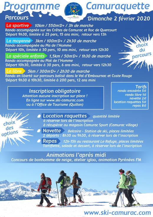 Programme Camuraquette 2021