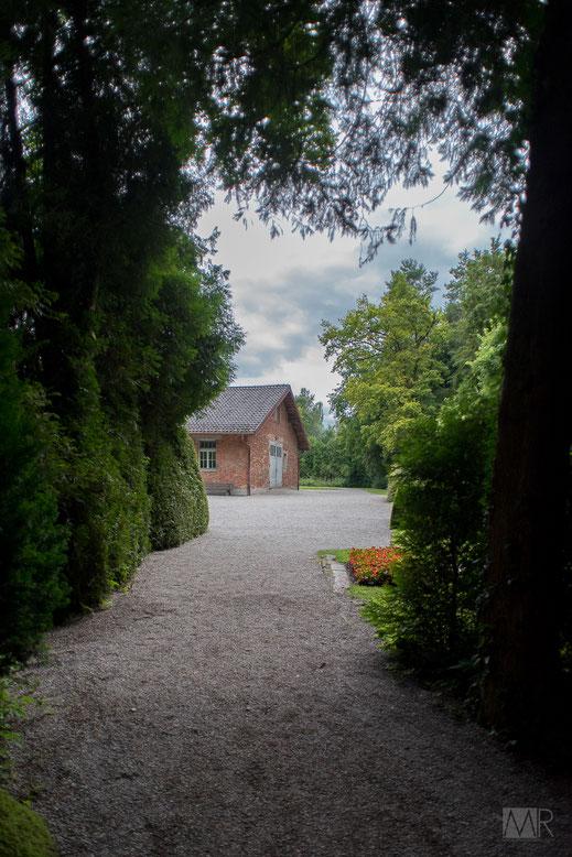 Scorcio dell'edificio dei forni crematori di Dachau
