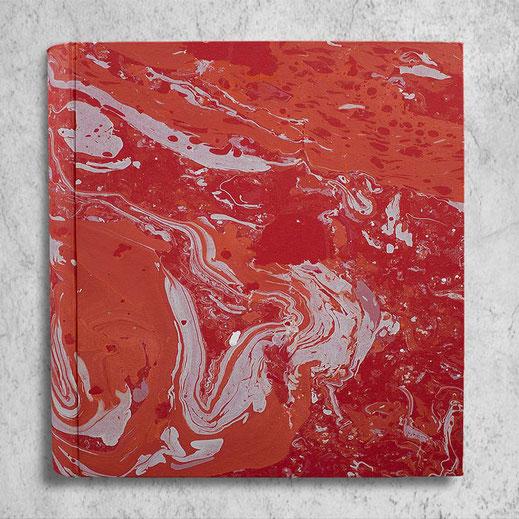 Album foto Amanda in carta marmorizzata corallo grande