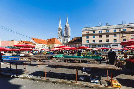 zagreb altstadt marktplatz
