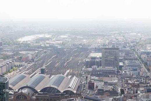 frankfurt hauptbahnhof high angle view