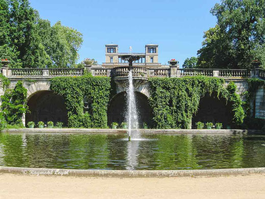 orangery palace with fountain at sanssouci