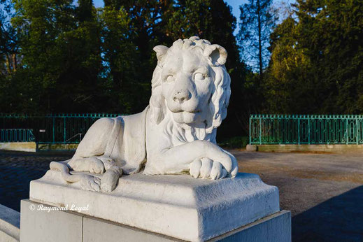 benrath palace lion sculpture