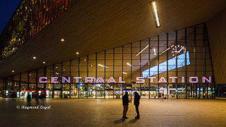 bahnhof rotterdam centraal station gebaeude