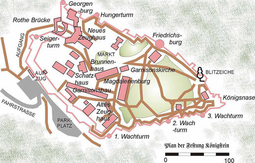 map koenigstein fortress