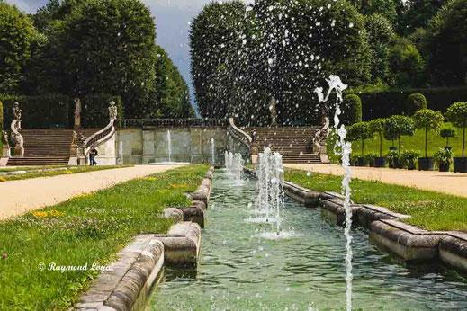 water gardens at baroque garden gross-sedlitz saxony