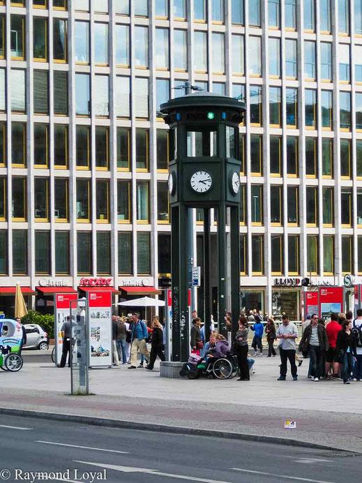 historic clock at potsdamer platz