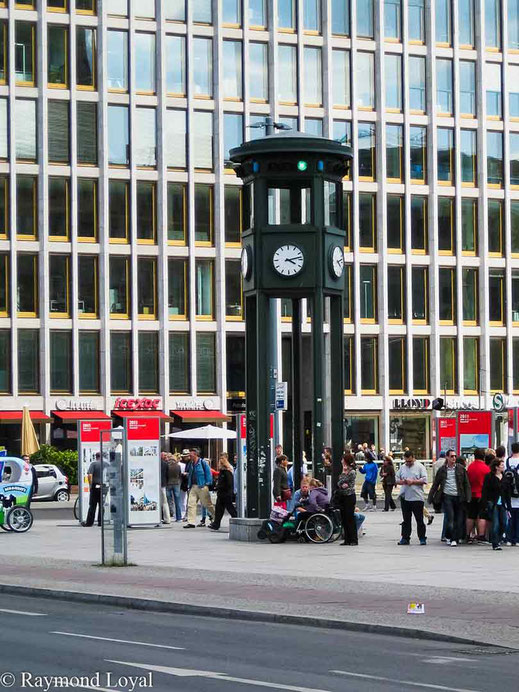 historic clock at potsdamer platz