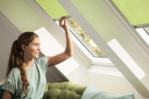 Sichtschutz am Dachfenster