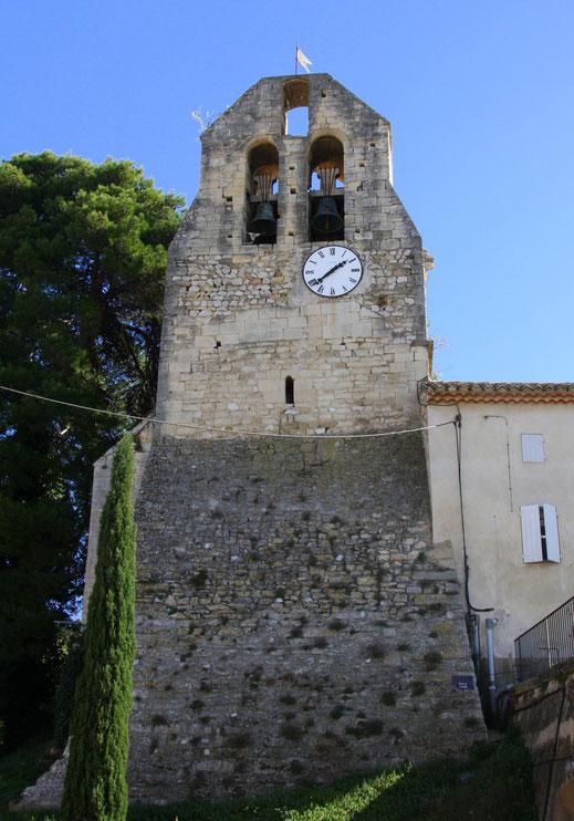 Bild: Glockenturm der ehemaligen Kirche St. Peter in Robion