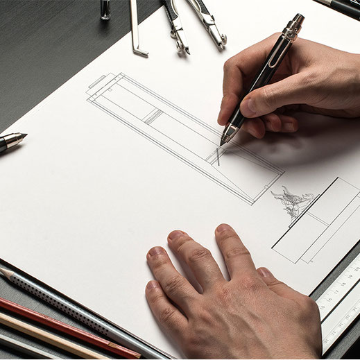 Skizze, technische Zeichnung, Scribbel